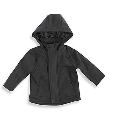 Urban Republic Hooded Soft-Shell Jacket in Black
