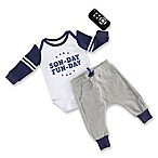 Baby Aspen Size 0-6M 3-Piece My First Game Day Bodysuit, Rattle and Pant Set