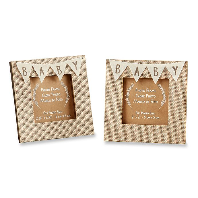 Alternate image 1 for Kate Aspen® 12-Pack Rustic Baby Burlap Frames