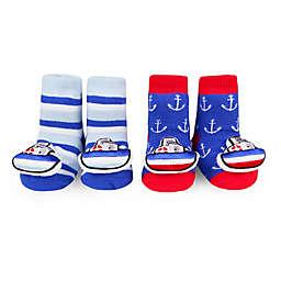 Waddle® 2-Pack Tugboat Rattle Socks