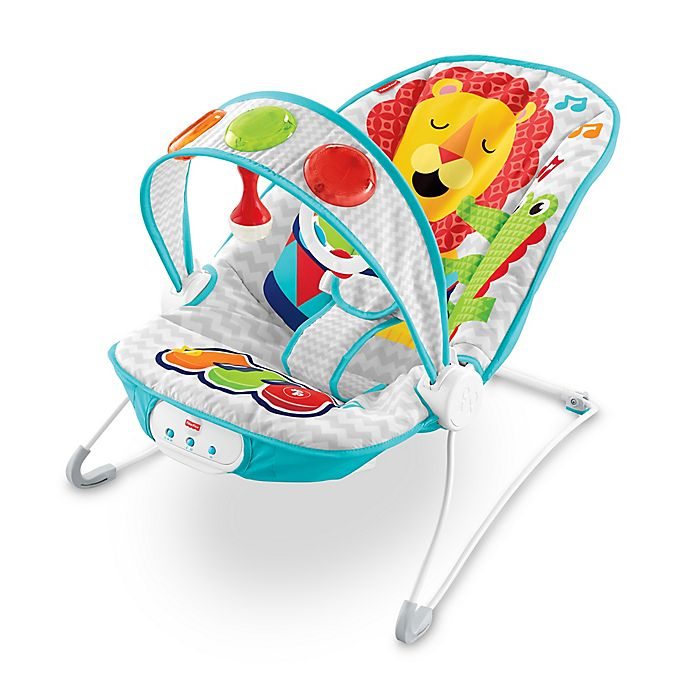 Alternate image 1 for Fisher-Price®  Kick 'n Play Jungle Musical Bouncer