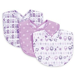 Trend Lab® 3-Piece Lambs and Flowers Bib Set