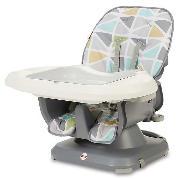 Alternate image 1 for Fisher-Price® Deluxe SpaceSaver Sail High Chair in Grey/Yellow