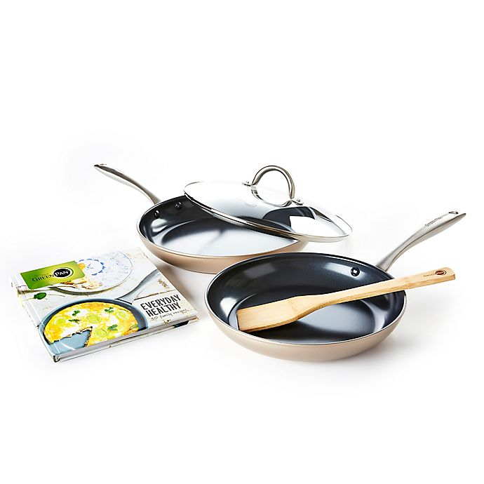 Alternate image 1 for GreenPan™ Limited Edition 10th Anniversary Lima Nonstick 5-Piece Fry Pan Set in Bronze