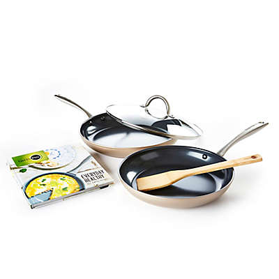 GreenPan™ Limited Edition 10th Anniversary Lima Nonstick 5-Piece Fry Pan Set in Bronze