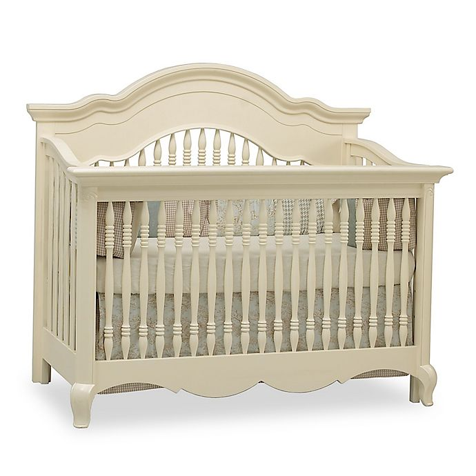 Alternate image 1 for Suite Bebe Julia 4-in-1 Convertible Crib in White Linen