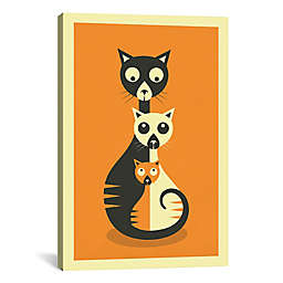 iCanvas Sitting Cats Canvas Wall Art