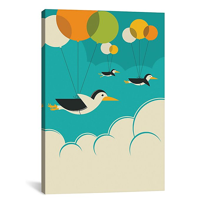Alternate image 1 for iCanvas Flock of Penguins 26-Inch x 40-Inch Canvas Wall Art