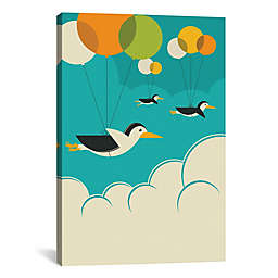 iCanvas Flock of Penguins Canvas Wall Art