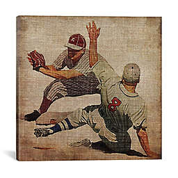 iCanvas Vintage Sports VII Square Canvas Wall Art