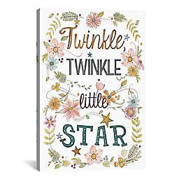 "iCanvas Sweet Sayings II ""Twinkle, Twinkle Little Star"" Canvas Wall Art"