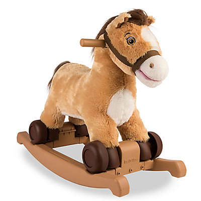 Rockin' Rider Charger 2-in-1 Rocking Pony in Tan