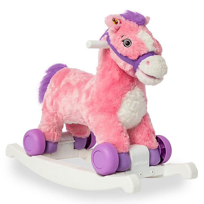 Alternate image 1 for Rockin' Rider Candy 2-in-1 Rocking Pony in Pink