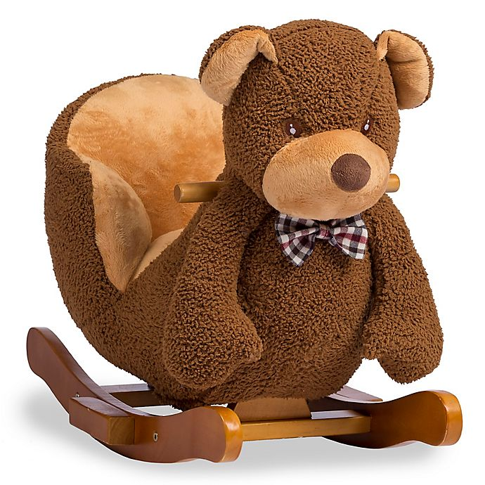 Alternate image 1 for Rockin' Rider® Barry the Bear Baby Rocker in Brown