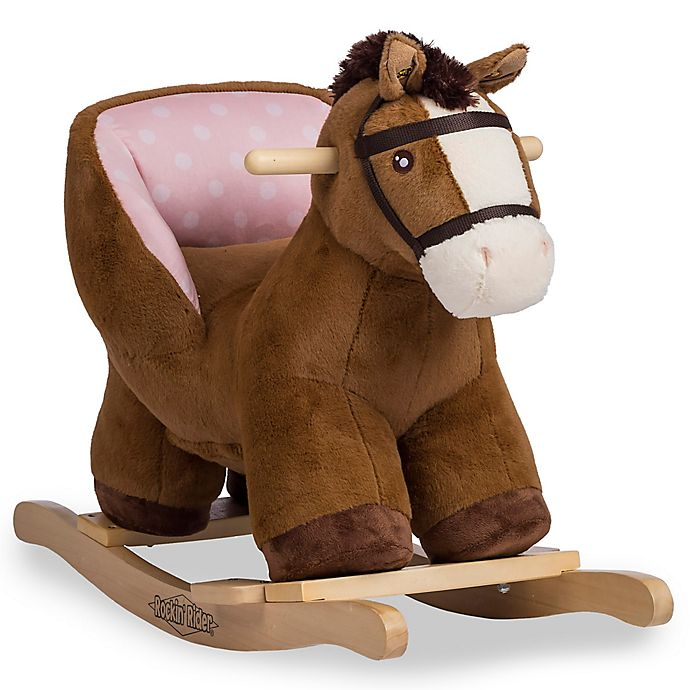 Alternate image 1 for Rockin' Rider Bubbles Baby Rocker in Brown