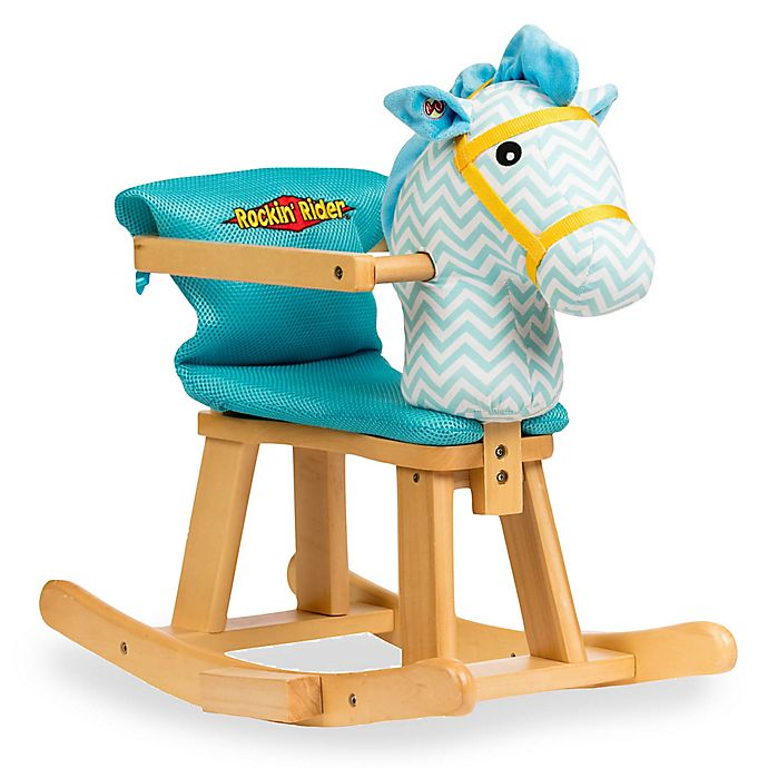 Alternate image 1 for Rockin' Rider® Trotter Baby's First Rocker in Blue