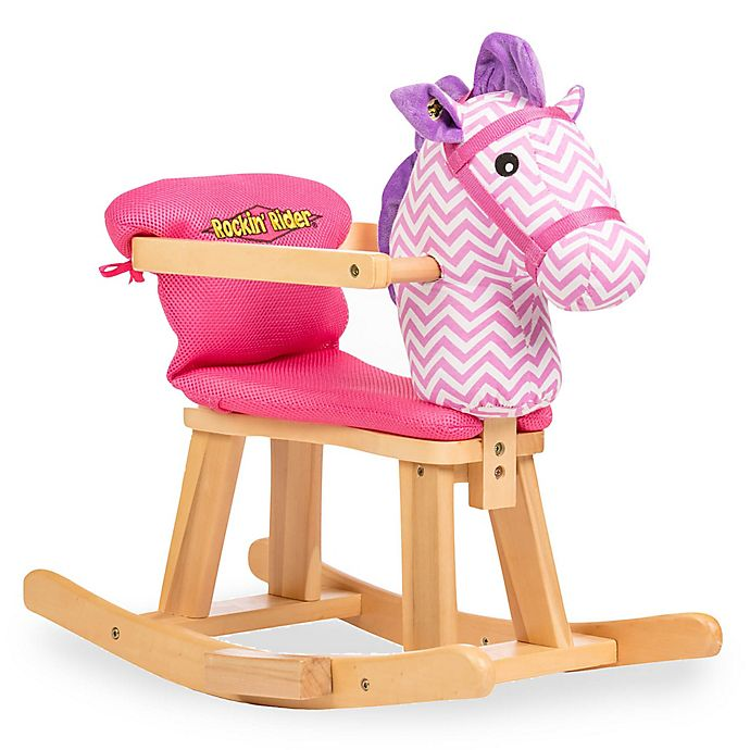Alternate image 1 for Rockin' Rider® Tip-Toe Baby's First Rocker in Pink