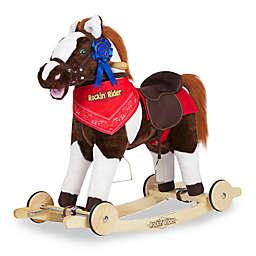 Rockin' Rider Admiral 2-in-1 Rocking Pony in Brown