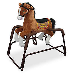 Rockin' Rider Diamond Spring Rocking Horse in Brown