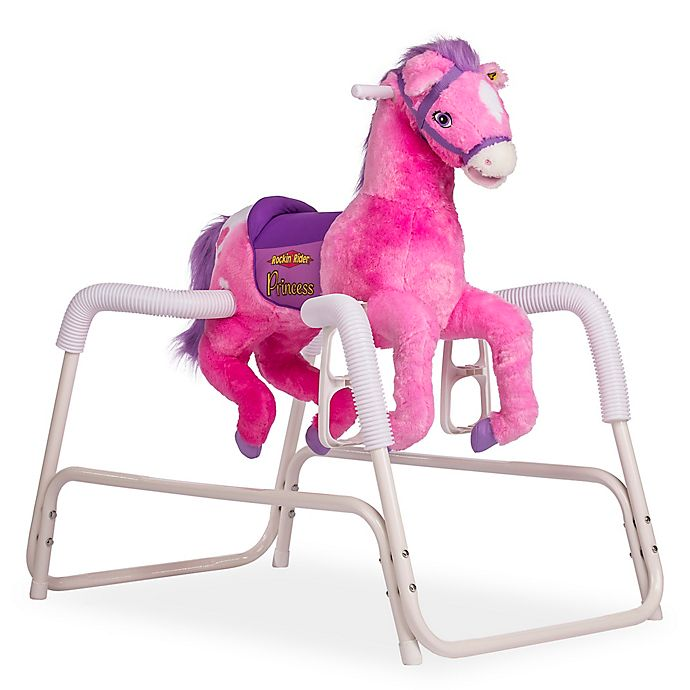 Alternate image 1 for Rockin' Rider Princess Spring Horse in Pink
