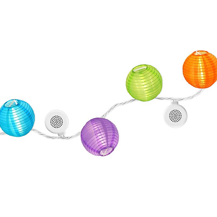 Bright Tunes 20 Light Led Indoor Outdoor Multicolor String Lights With Bluetooth Speakers Bed Bath Beyond
