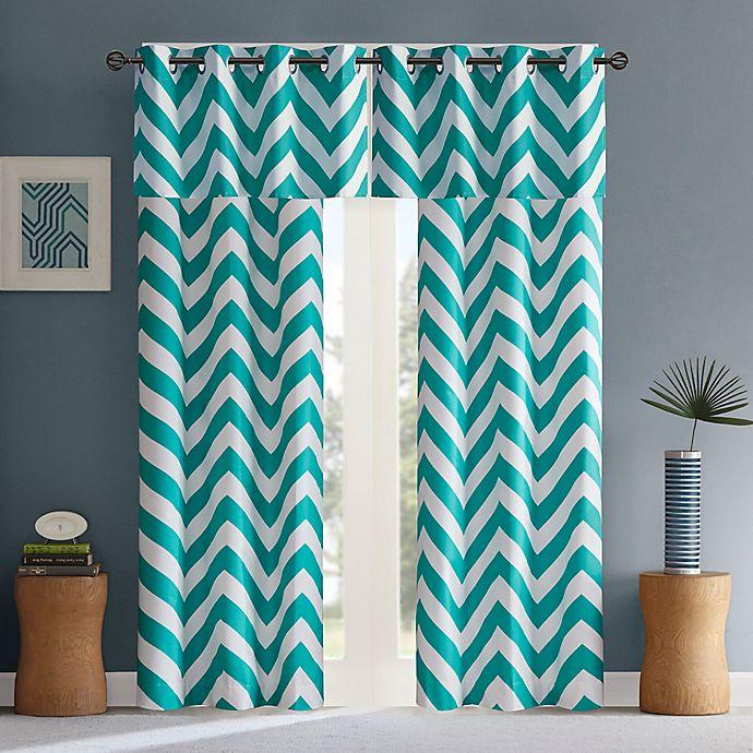 Alternate image 1 for Intelligent Design Libra Grommet Top Window Curtain Panel Pair and Valance