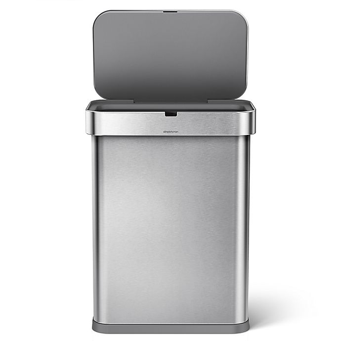 Simplehuman 58 Liter Rectangular Voice Activated Trash Can In Stainless Steel View A Larger Version Of This Product Image