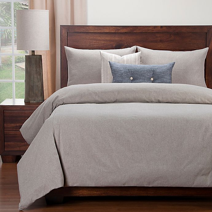 Alternate image 1 for SIScovers® Modern Farmhouse Naturalize Peat King Duvet Cover Set in Taupe