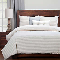 Siscovers Modern Farmhouse Ticking Stripe Duvet Cover Set