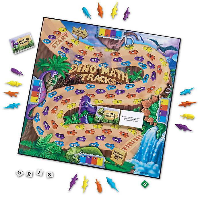 Alternate image 1 for Learning Resources® Dino Math Tracks® Game