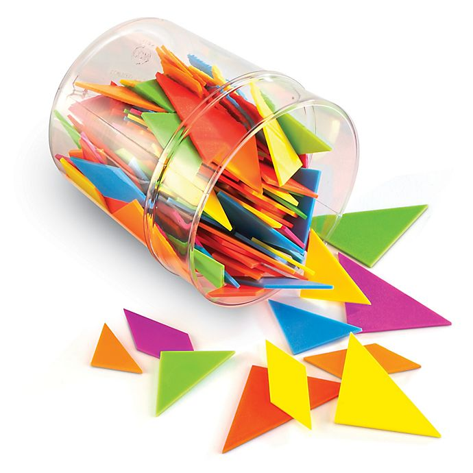 Alternate image 1 for Learning Resources® Brights Tangrams Classpack