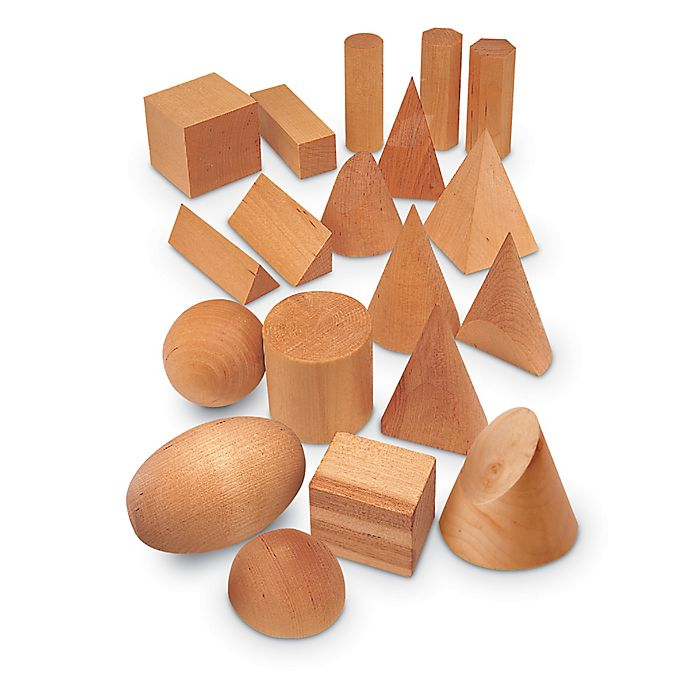 Alternate image 1 for Learning Resources® 19-Piece Wood Geo Solids Set