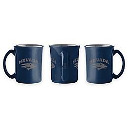 University of Nevada 15 oz. Sculpted Café Mug
