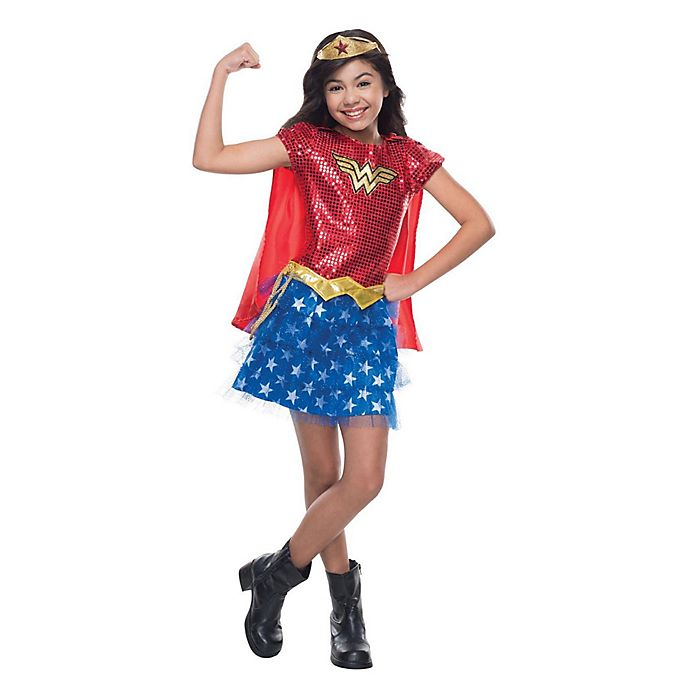Alternate image 1 for Wonder Woman Sequin Small Child's Halloween Costume