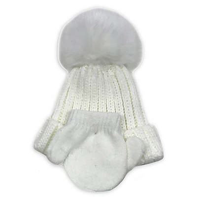 Curls & Pearls Faux Fur Hat and Mitten Set