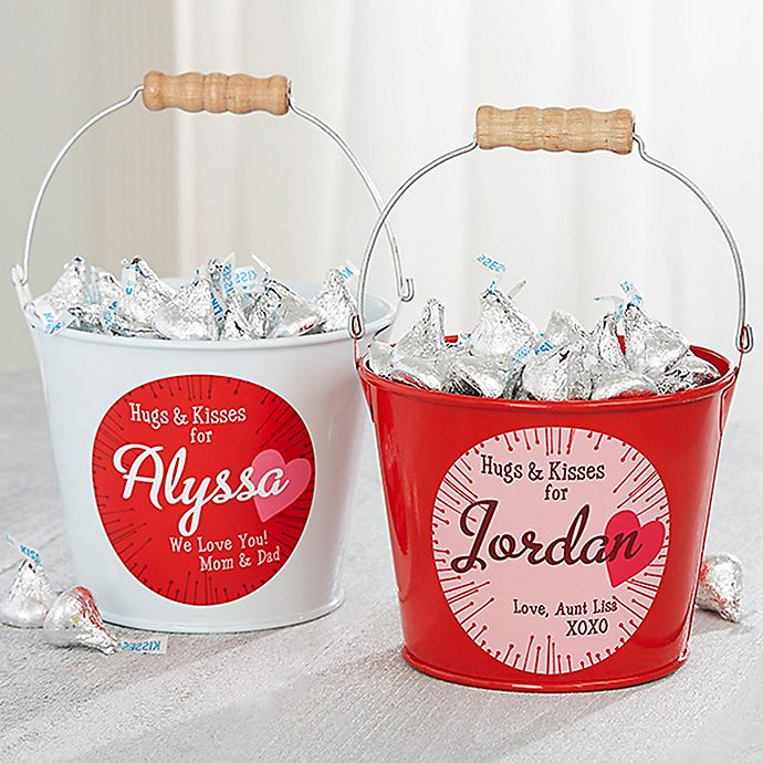 Alternate image 1 for Hugs & Kisses Mini Metal Bucket