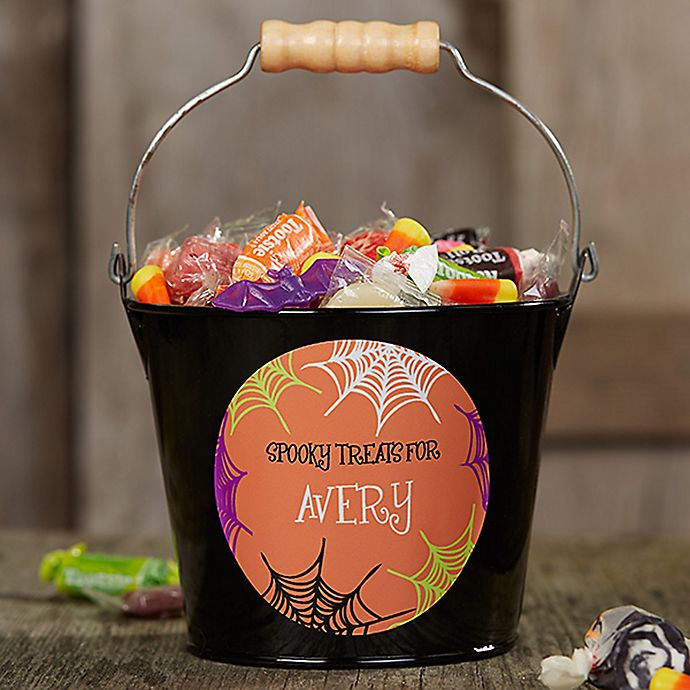 Alternate image 1 for Sweets & Treats Halloween Mini Metal Bucket
