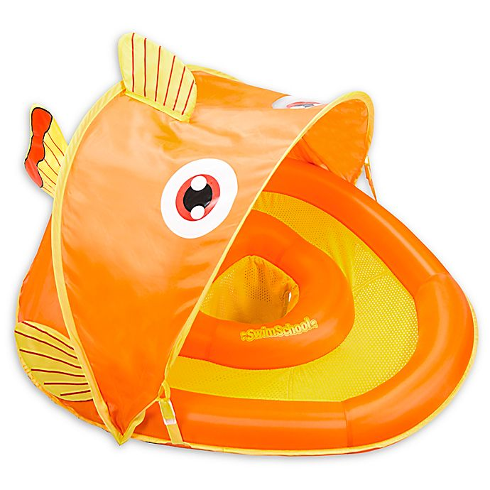 Alternate image 1 for Aqua Leisure® Grow-with-Me SunShade Gold-E-Fish Baby Float