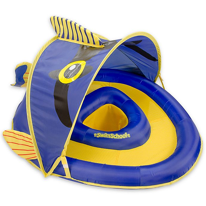 Alternate image 1 for Aqua Leisure® Grow-with-Me SunShade Angel-the-Fish Baby Float