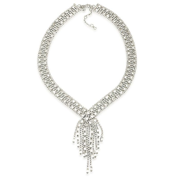 ba99a13497 Carolee New York Glass Ceiling Cubic Zirconia Sparkle Y-Necklace ...