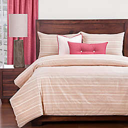 SIScovers® Sunwashed Brick Queen Duvet Cover Set in Red/Beige