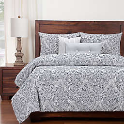 SIScovers® Modern Farmhouse Misty River Queen Duvet Cover Set in Blue/Grey