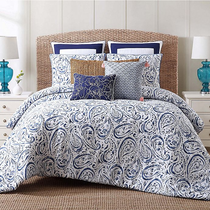 Buy Indienne Paisley Full Queen Duvet Cover Set In Blue
