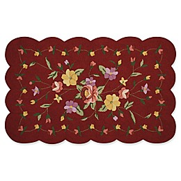 Nourison Everywhere Petite Floral Scallop Rug