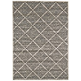 Feizy Madrina Diamond 10-Foot x 13-Foot 2-Inch Area Rug in Black/Taupe