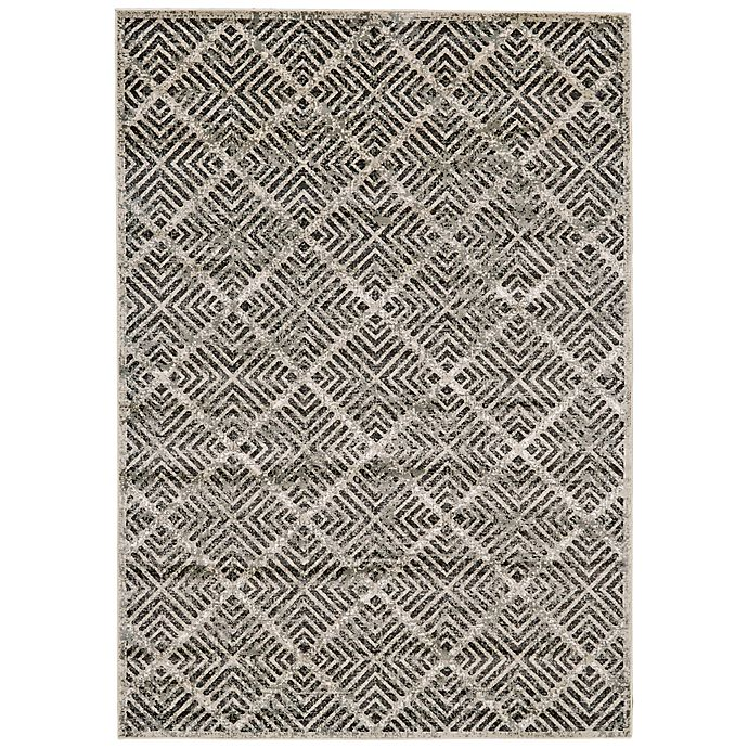 Alternate image 1 for Feizy Madrina Diamond 10-Foot x 13-Foot 2-Inch Area Rug in Black/Taupe