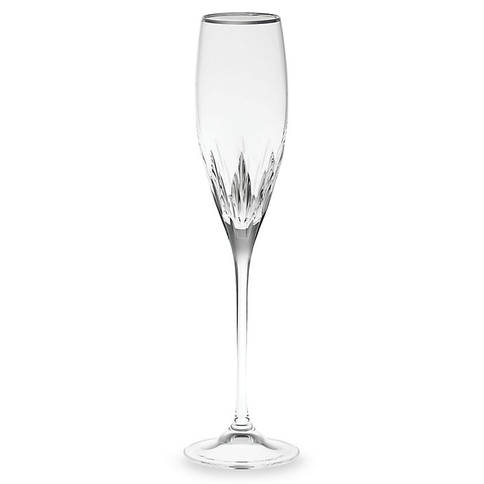 Alternate image 1 for Vera Wang Wedgwood® Duchesse Platinum Crystal 7-Ounce Toasting Flute