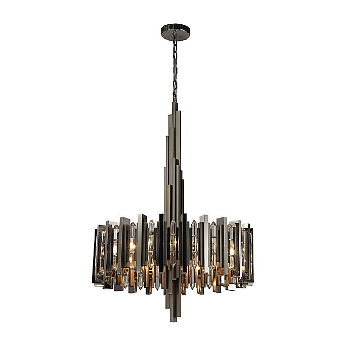 Alternate image 1 for Dimond Lighting Industrialist 8-Light Chandelier in Polished Nickel