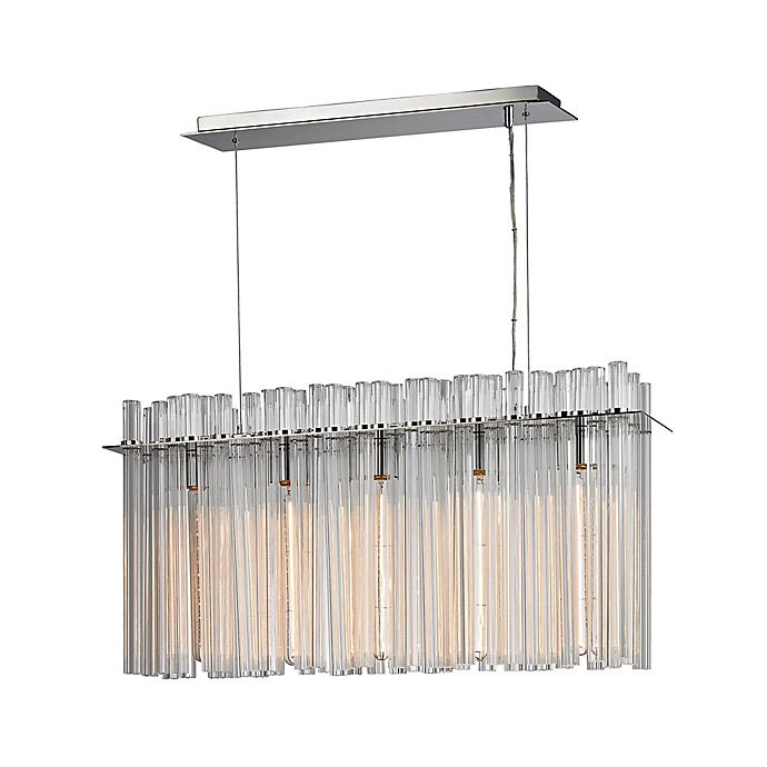 Alternate image 1 for Dimond Lighting Fringe 5-Light Chandelier in Polished Nickel