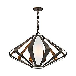Dimond Lighting Reflex 1-Light Pendant in Gold Leaf/Mocha